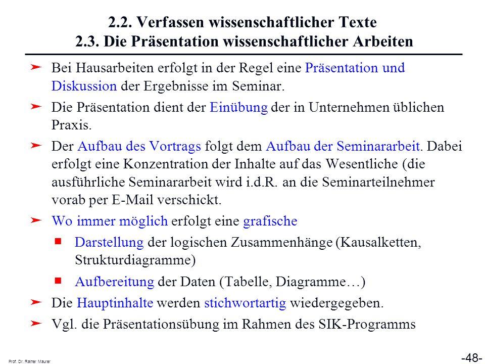 2. 2. Verfassen wissenschaftlicher Texte 2. 3