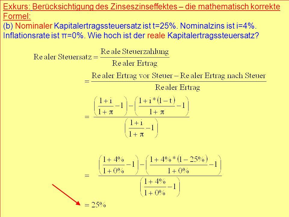 Exkurs: Berücksichtigung des Zinseszinseffektes – die mathematisch korrekte Formel: