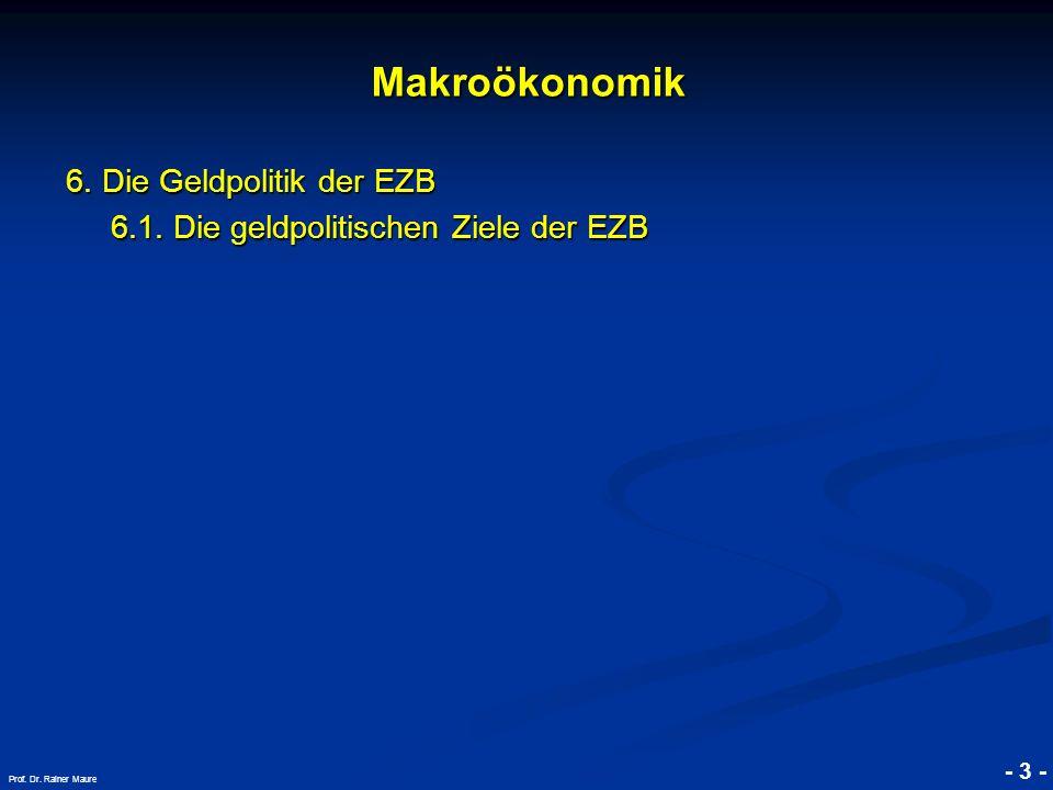Makroökonomik 6. Die Geldpolitik der EZB