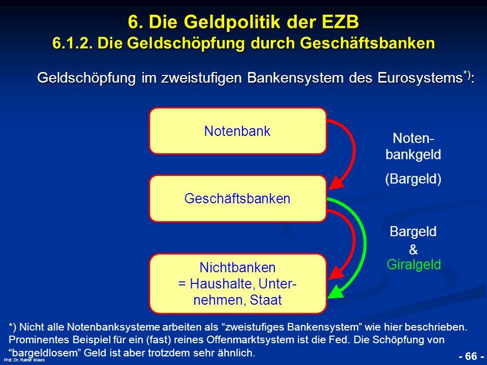 Geldschöpfung im zweistufigen Bankensystem des Eurosystems*):