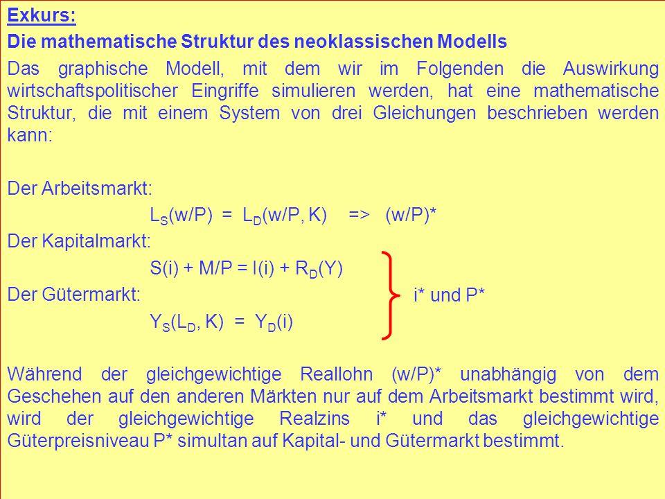Die mathematische Struktur des neoklassischen Modells