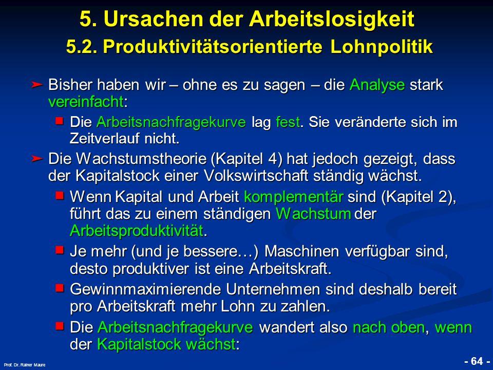 5. Ursachen der Arbeitslosigkeit 5. 2
