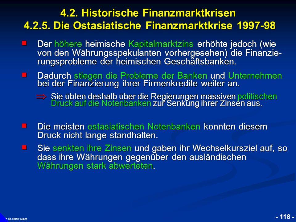 4. 2. Historische Finanzmarktkrisen 4. 2. 5