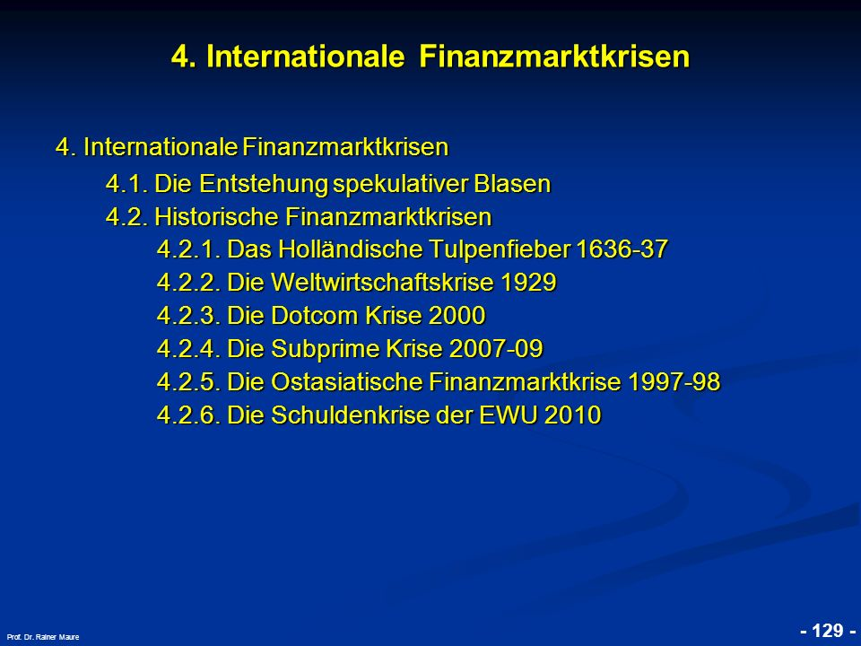 4. Internationale Finanzmarktkrisen