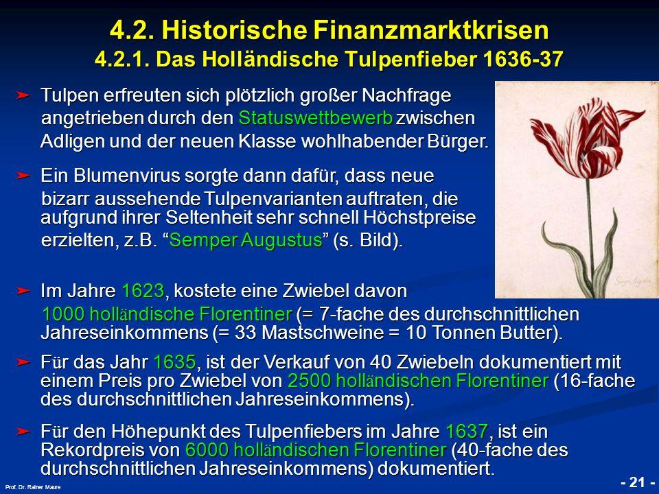 4. 2. Historische Finanzmarktkrisen 4. 2. 1