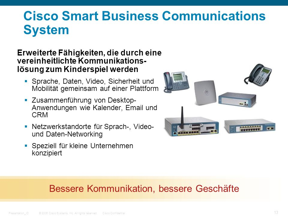 Cisco Smart Business Communications System