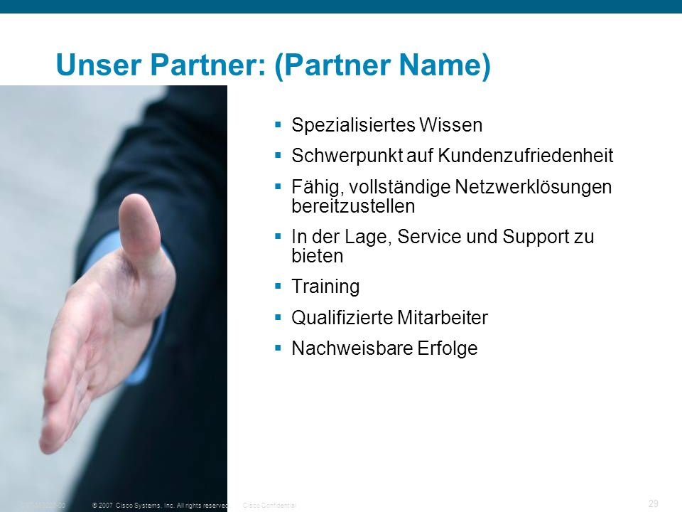 Unser Partner: (Partner Name)