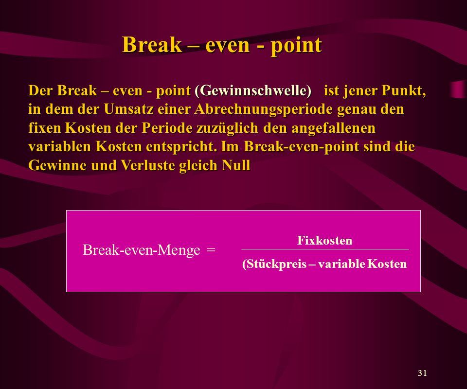 Break – even - point
