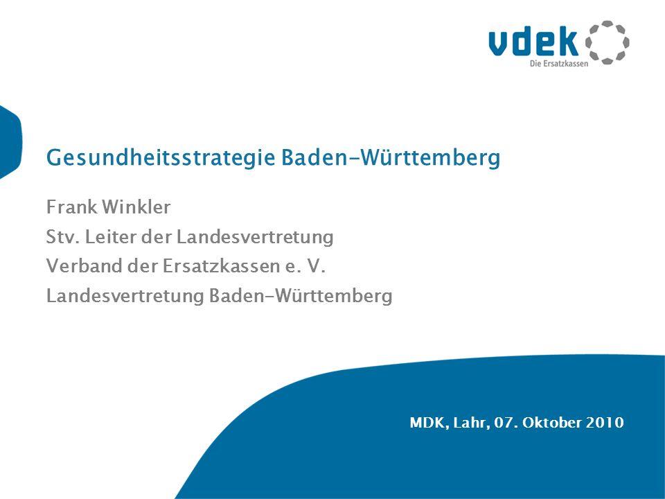 Gesundheitsstrategie Baden-Württemberg