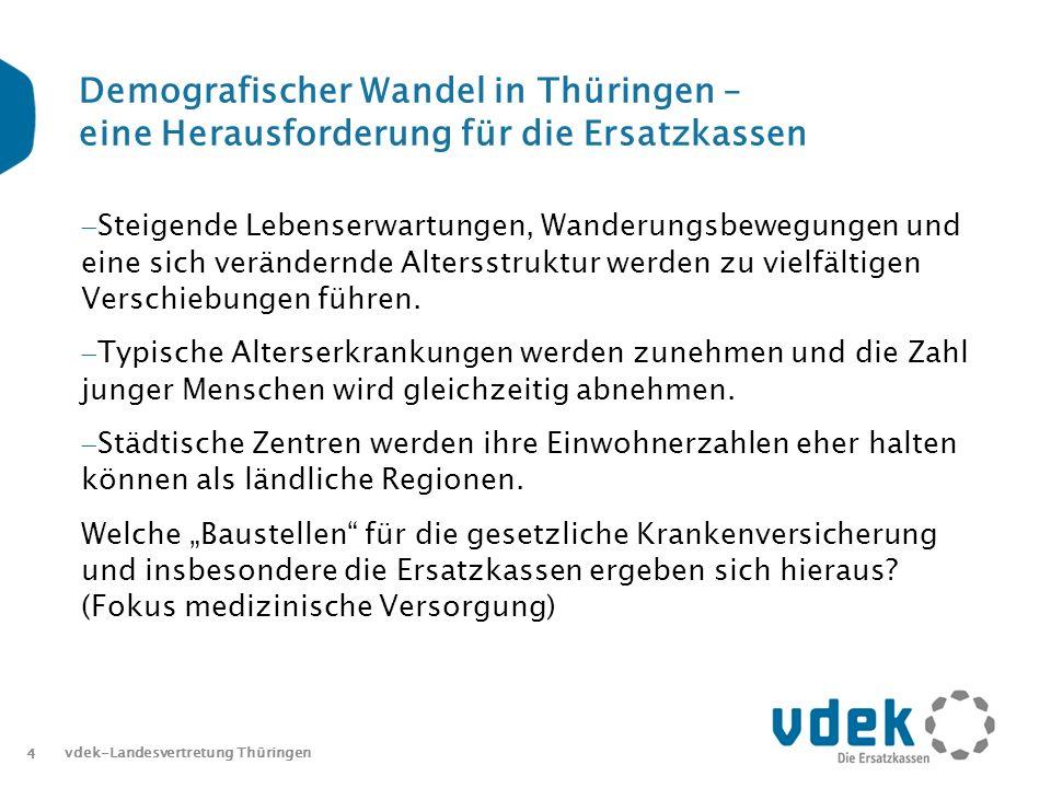 Demografischer Wandel in Thüringen – eine Herausforderung für die Ersatzkassen