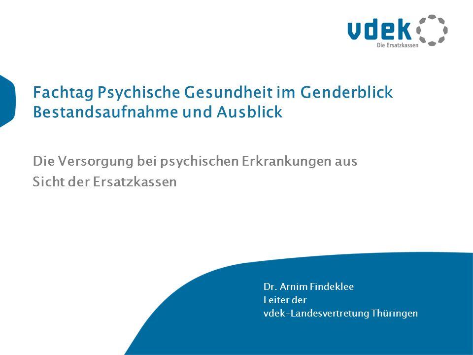 Die Versorgung bei psychischen Erkrankungen aus Sicht der Ersatzkassen