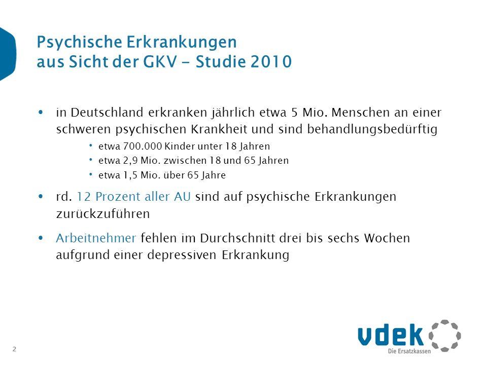 Psychische Erkrankungen aus Sicht der GKV - Studie 2010
