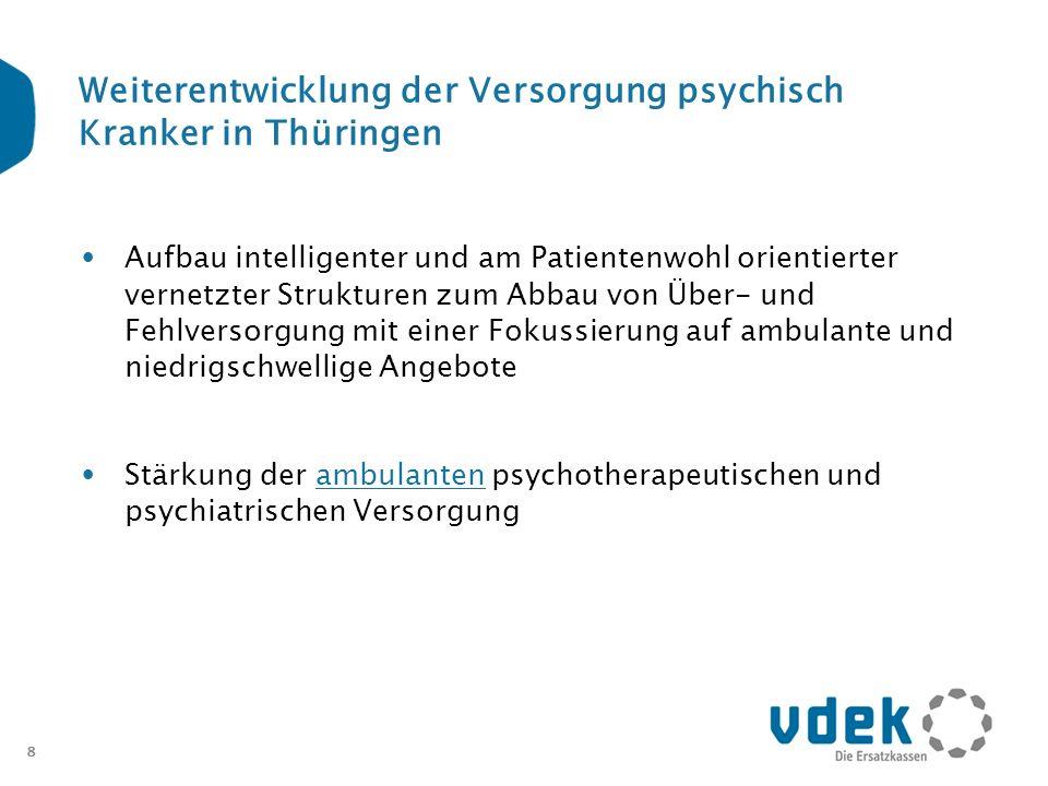 Weiterentwicklung der Versorgung psychisch Kranker in Thüringen