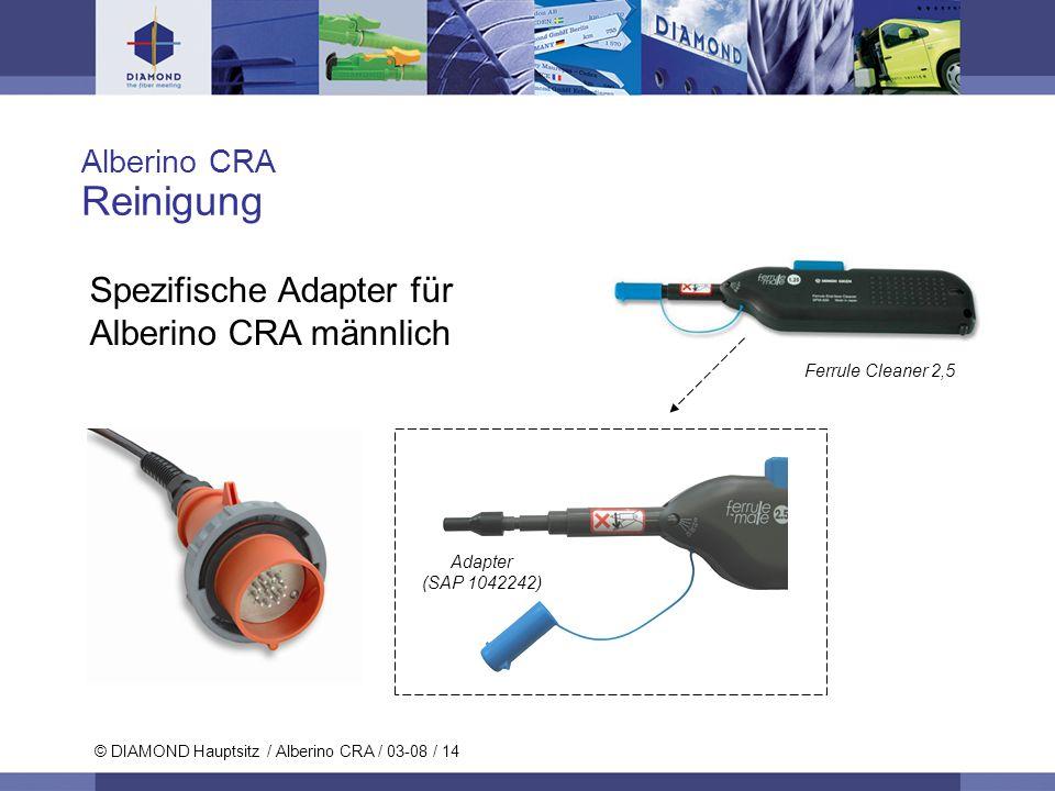 Reinigung Spezifische Adapter für Alberino CRA männlich Alberino CRA