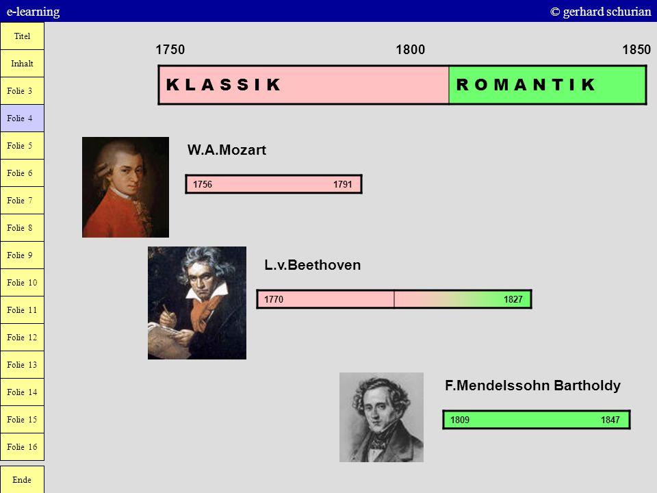 K L A S S I K R O M A N T I K W.A.Mozart L.v.Beethoven