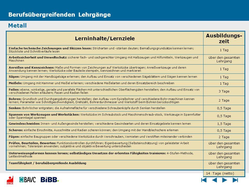 Lerninhalte/Lernziele