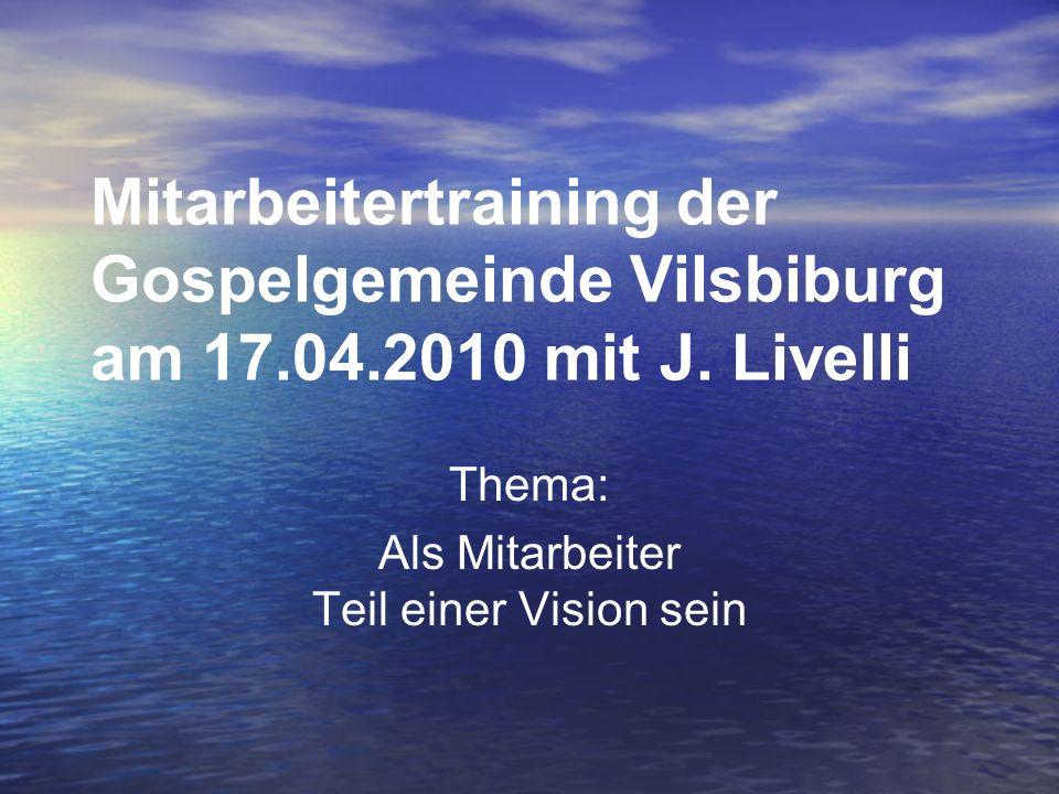 Thema: Als Mitarbeiter Teil einer Vision sein