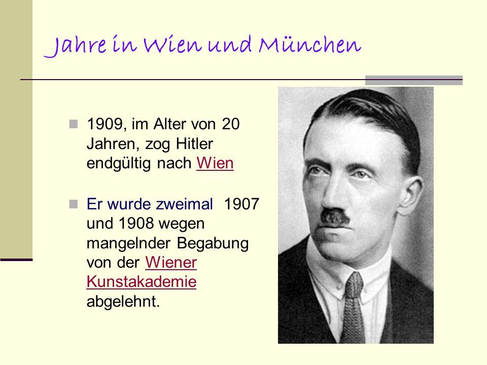 Jahre in Wien und München