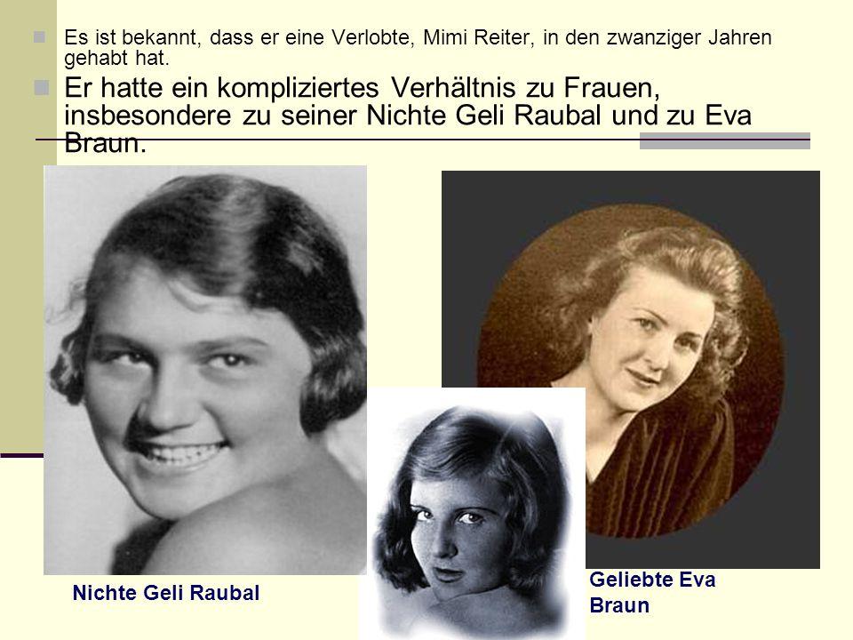 Es ist bekannt, dass er eine Verlobte, Mimi Reiter, in den zwanziger Jahren gehabt hat.