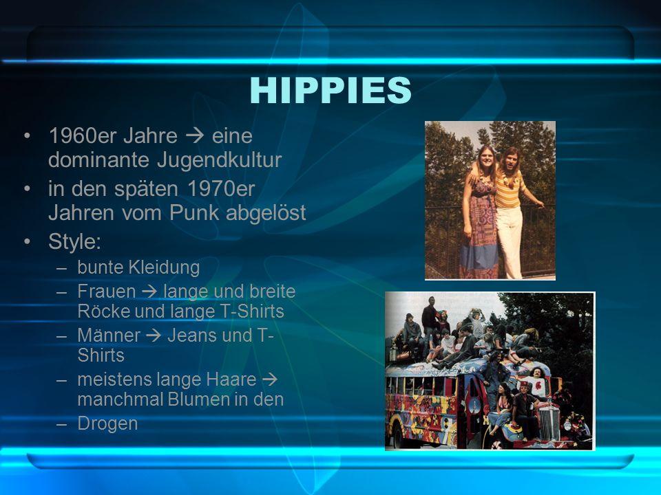 HIPPIES 1960er Jahre  eine dominante Jugendkultur
