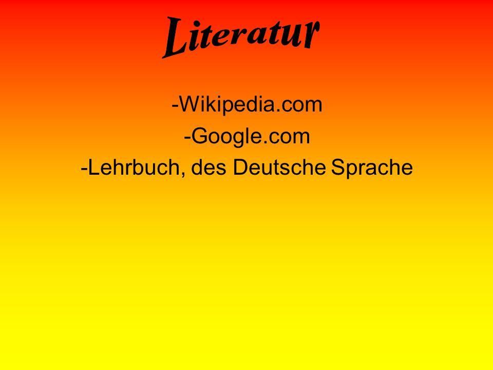 Lehrbuch, des Deutsche Sprache