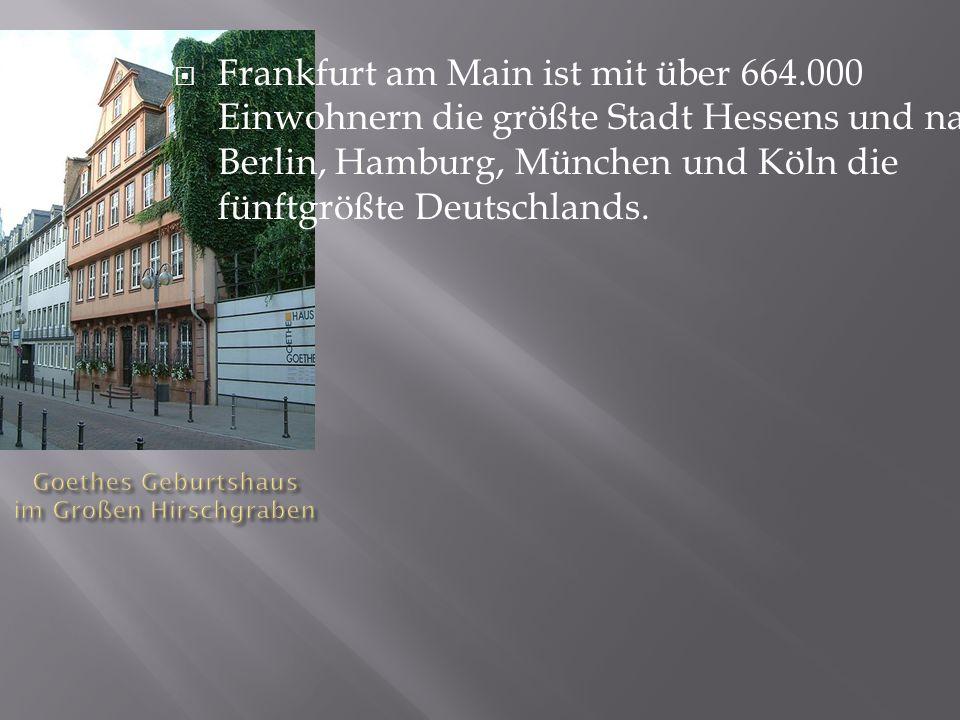 Goethes Geburtshaus im Großen Hirschgraben