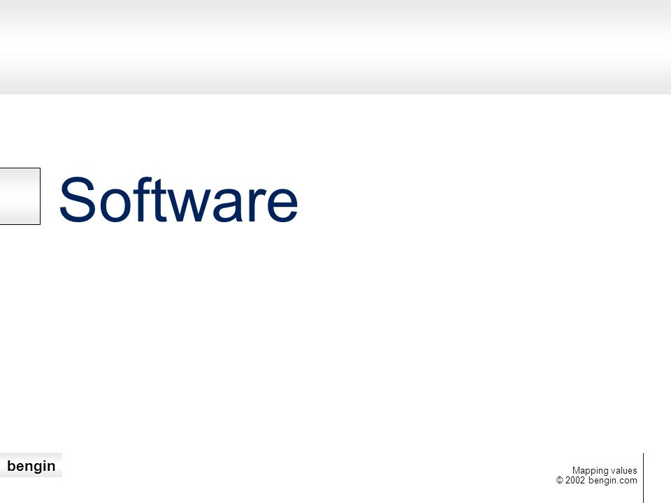 Software Mapping values © 2002 bengin.com