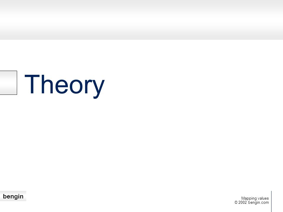 Theory Mapping values © 2002 bengin.com
