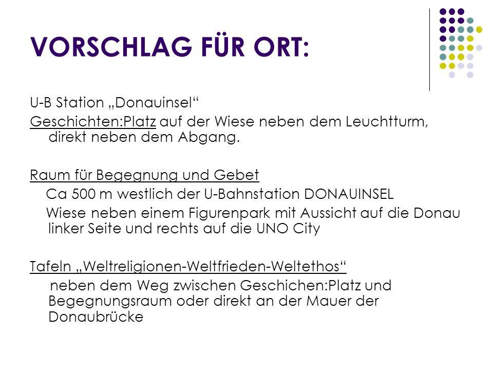 """VORSCHLAG FÜR ORT: U-B Station """"Donauinsel"""
