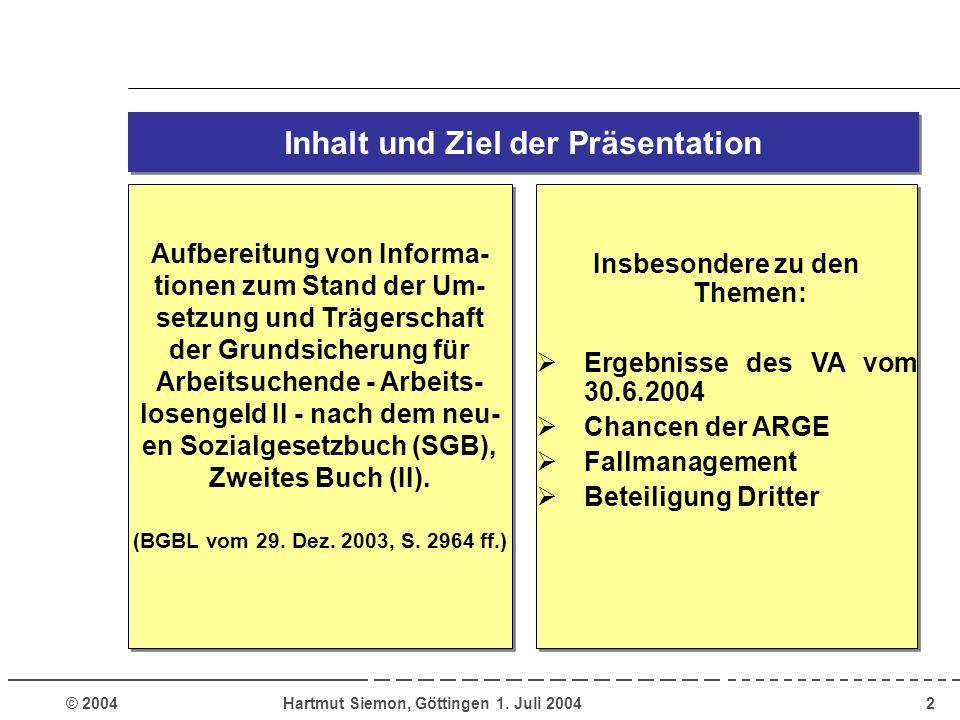 Inhalt und Ziel der Präsentation
