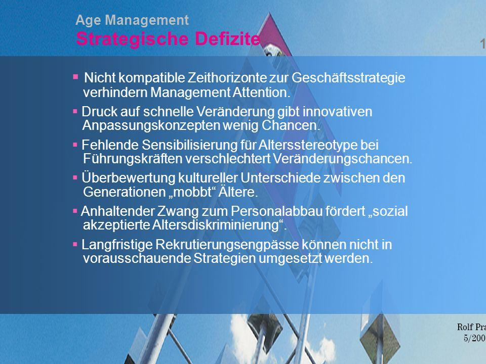 Age Management Strategische Defizite