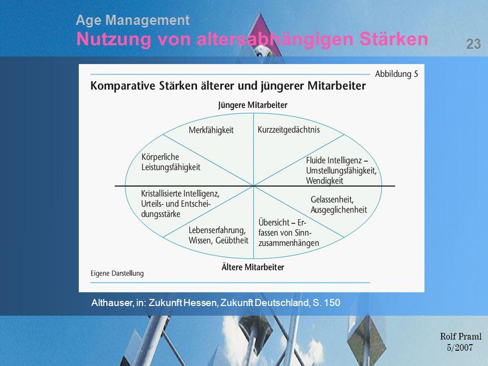Age Management Nutzung von altersabhängigen Stärken
