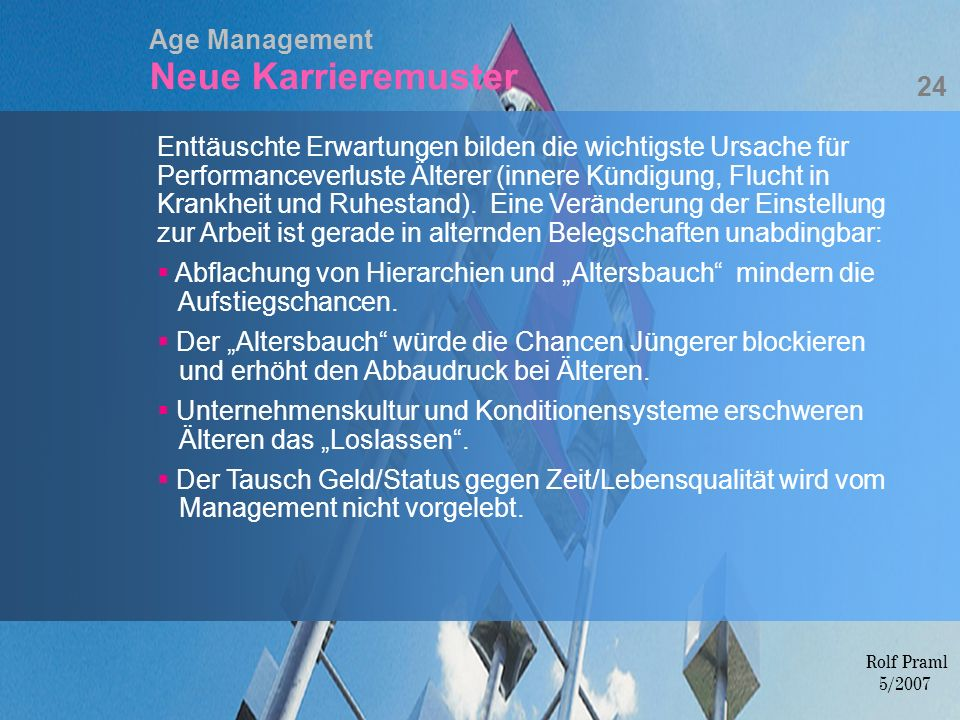 Age Management Neue Karrieremuster