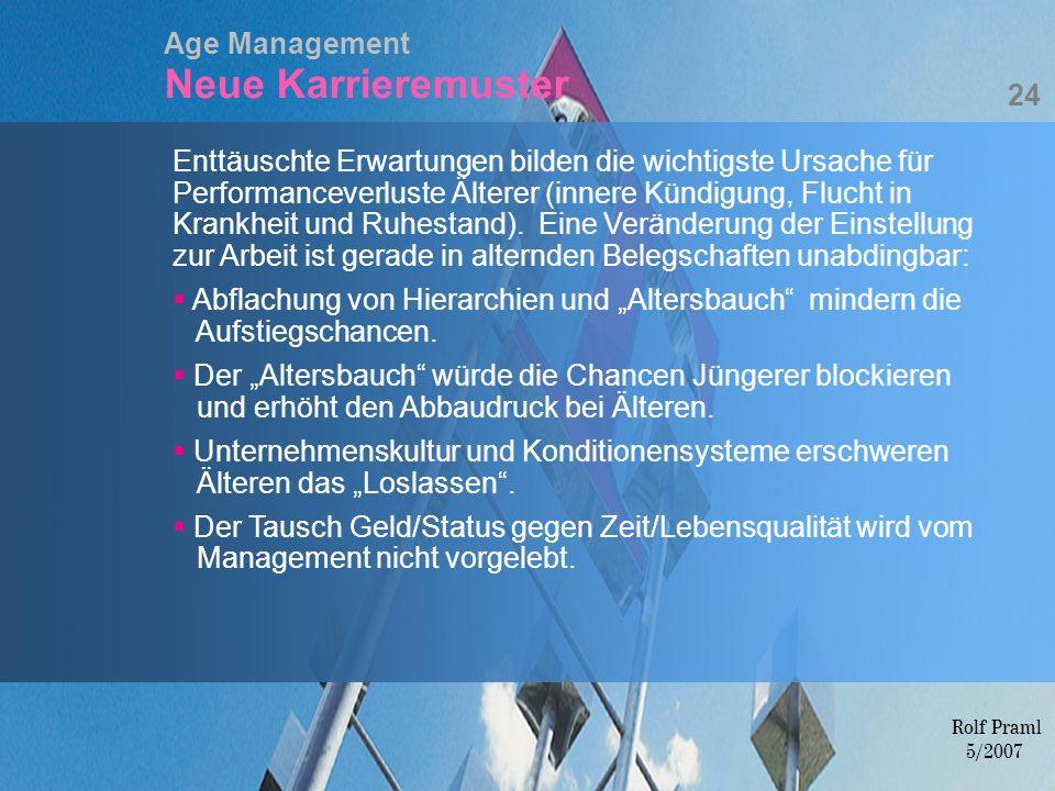 Age Management Neue Karrieremuster