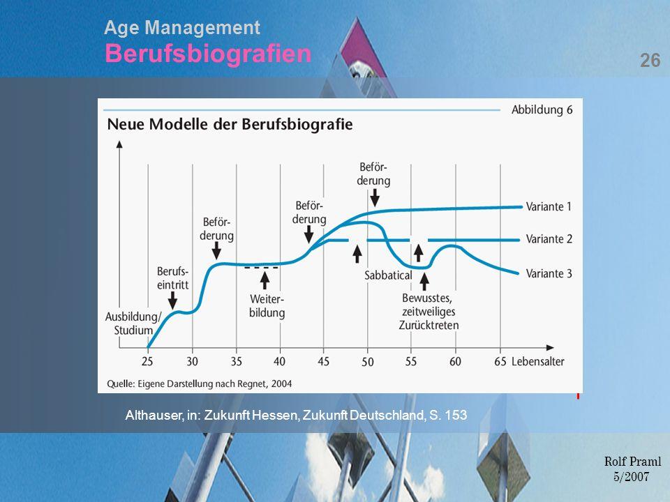Age Management Berufsbiografien