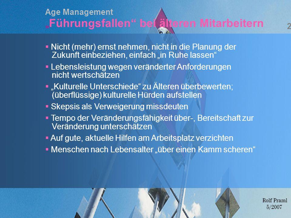 """Age Management """"Führungsfallen bei älteren Mitarbeitern"""