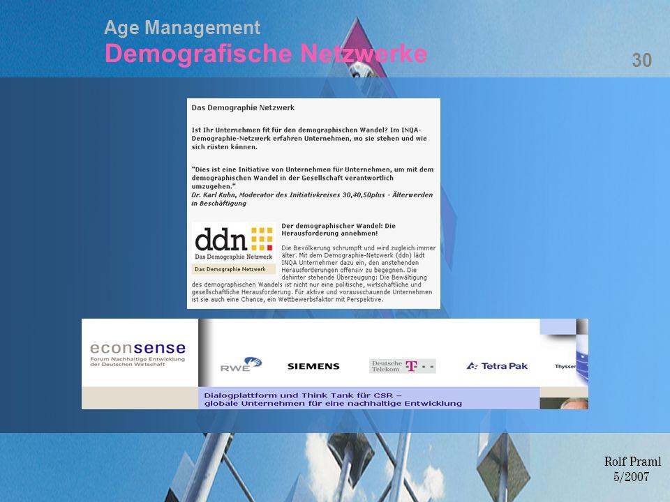 Age Management Demografische Netzwerke