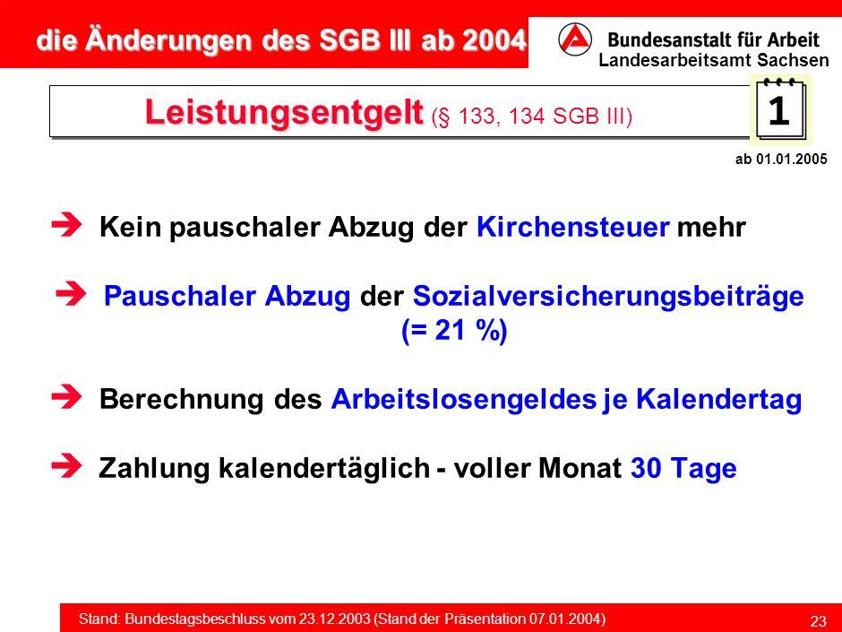 Leistungsentgelt (§ 133, 134 SGB III)