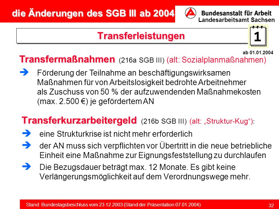 Transfermaßnahmen (216a SGB III) (alt: Sozialplanmaßnahmen)