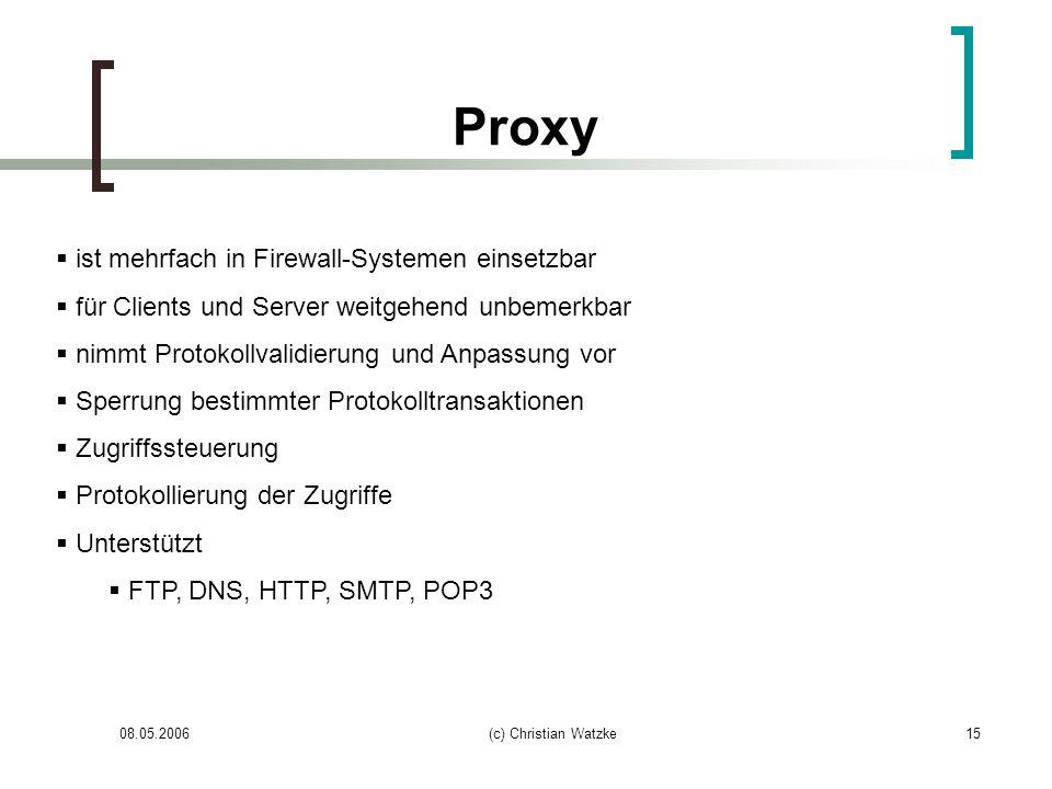 Proxy ist mehrfach in Firewall-Systemen einsetzbar