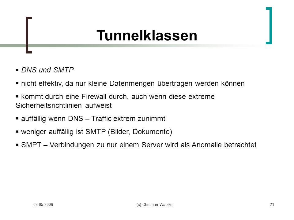Tunnelklassen DNS und SMTP