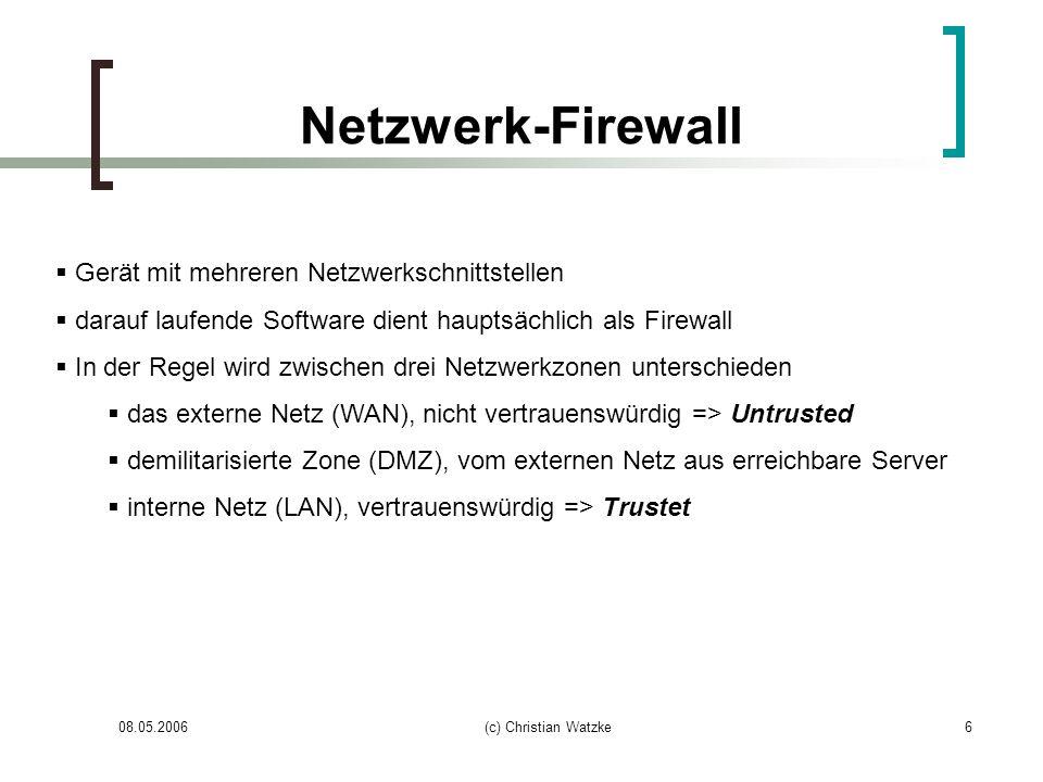 Netzwerk-Firewall Gerät mit mehreren Netzwerkschnittstellen