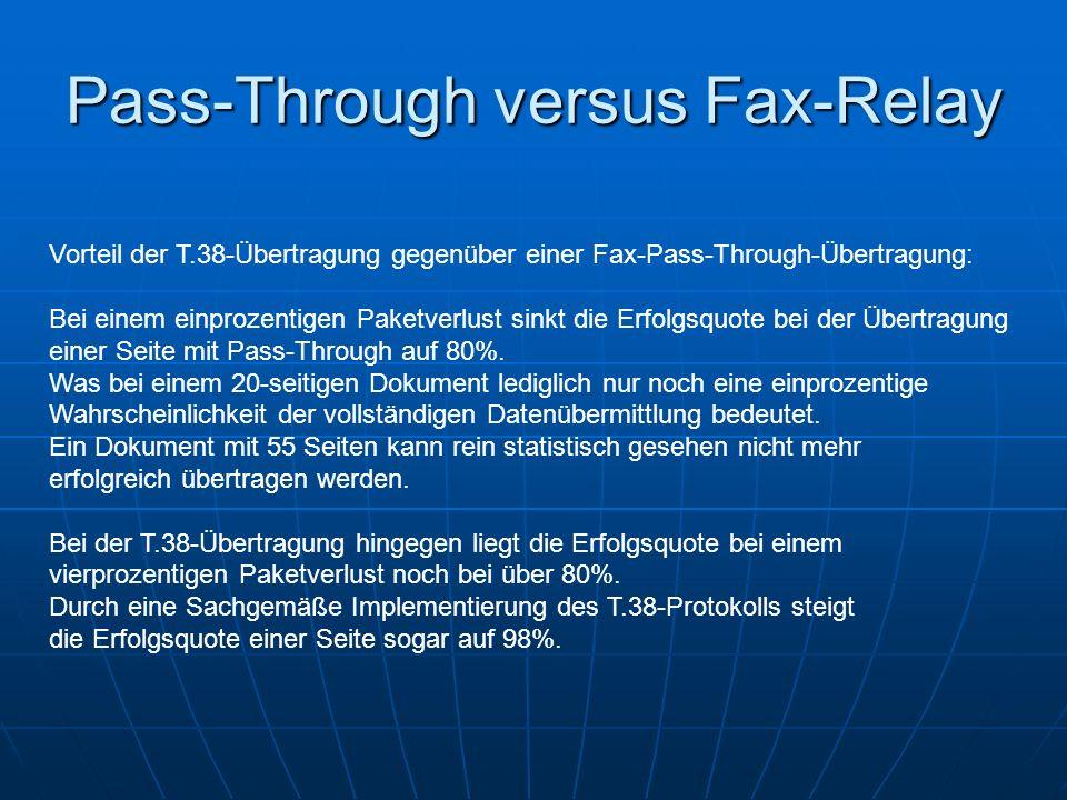 Pass-Through versus Fax-Relay