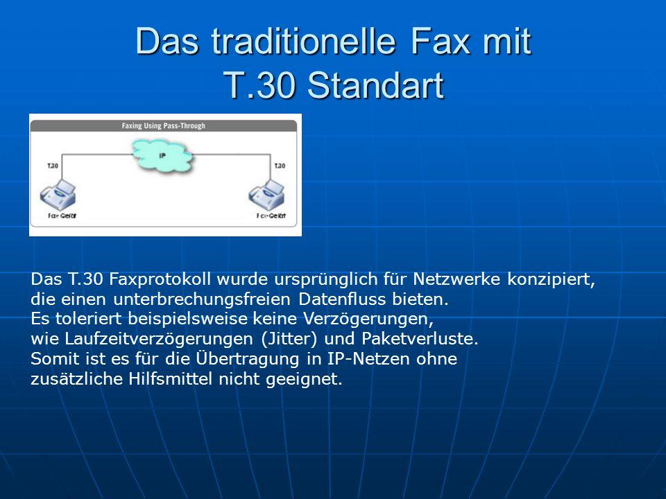 Das traditionelle Fax mit T.30 Standart