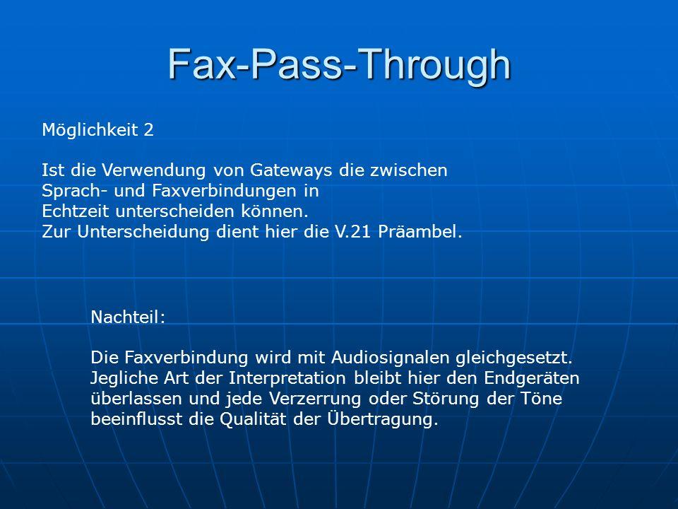 Fax-Pass-Through Möglichkeit 2