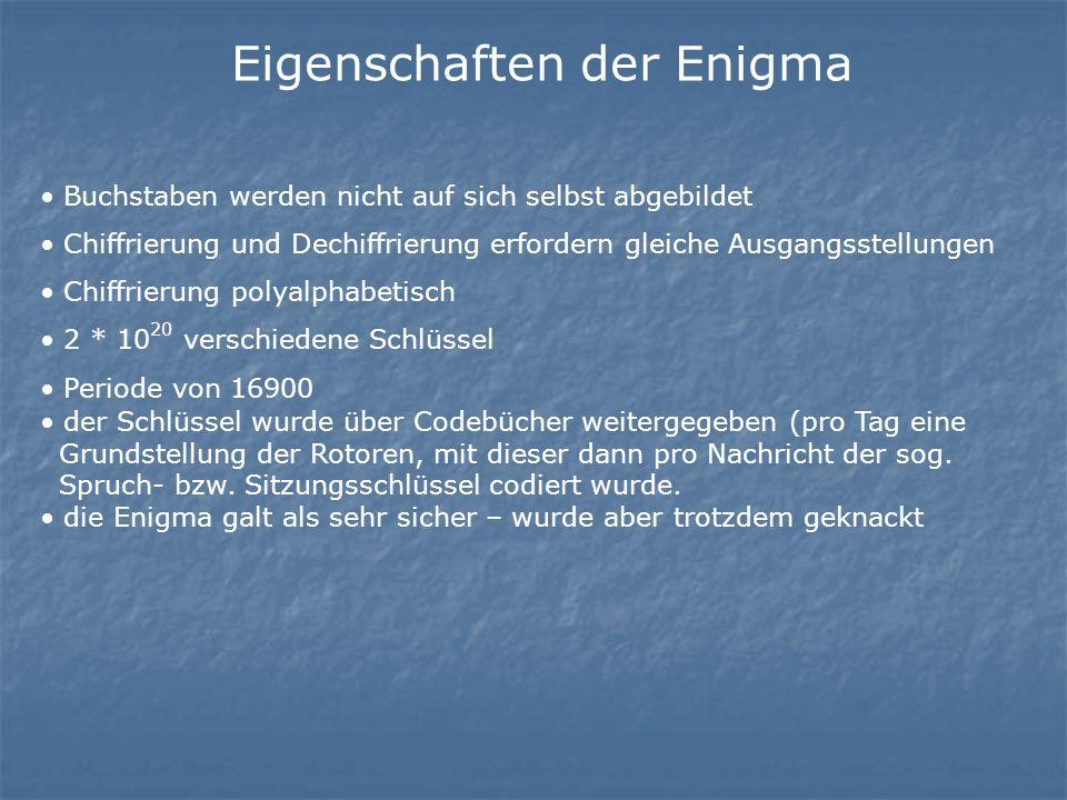 Eigenschaften der Enigma