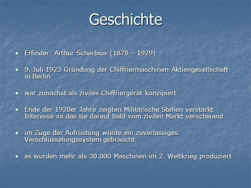 Geschichte Erfinder: Arthur Scherbius (1878 – 1929)