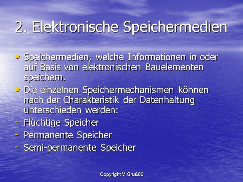 2. Elektronische Speichermedien
