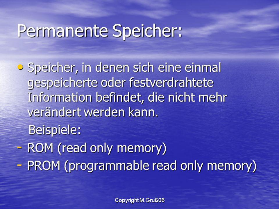 Permanente Speicher: