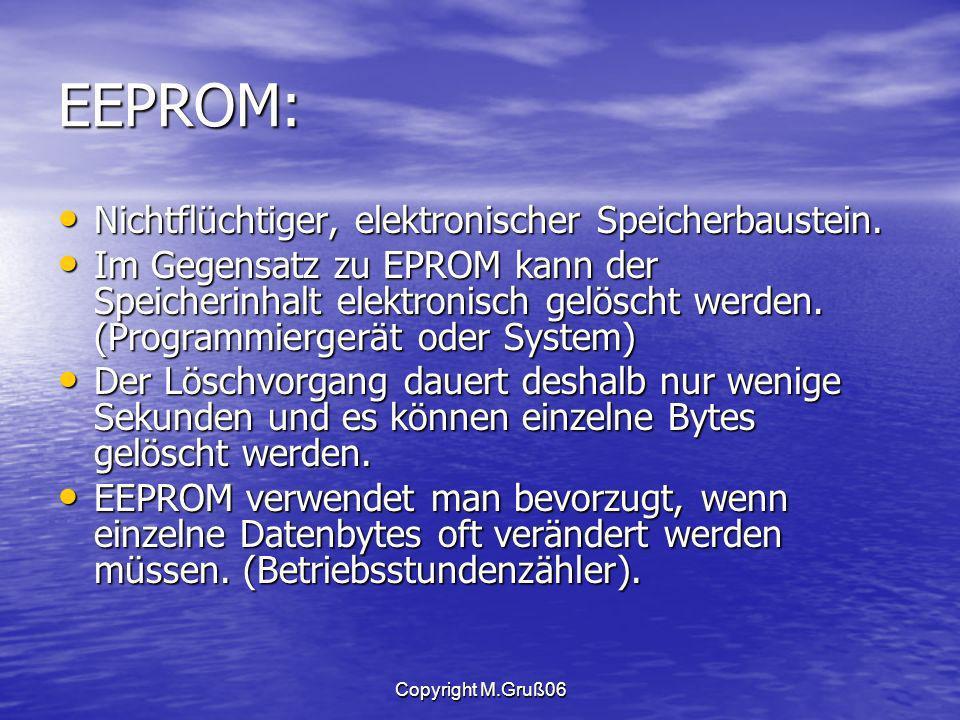 EEPROM: Nichtflüchtiger, elektronischer Speicherbaustein.